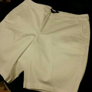 Riders by Lee Shorts - Nice white dressy cotton shorts!!